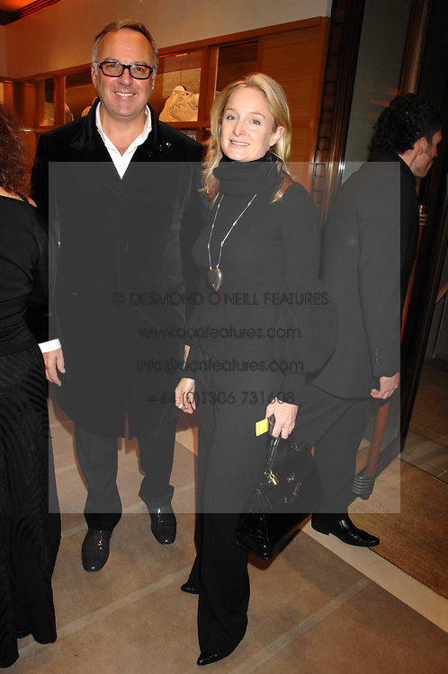 JONATHAN RUTHERFORD-BEST and KADEE ROBBINS at a reception to launch the 2007 Louis Vuitton Christmas windows in collaboration with Central Saint Martins College of Art & Design held at 17-18 New Bond Street, London W1 on 7th November 2007.<br /><br />NON EXCLUSIVE - WORLD RIGHTS