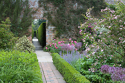 Path leading from the Rose Garden to the Yew Walk at Sissinghurst Castle Garden