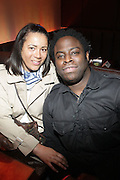 l to r: Carla Leenders and Jeymes Samuel of Elevator Fight at The ROOTS Present the Jam produced by Jill Newman Productions held at Highline Ballroom on April 29, 2009 in New York City