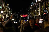 Janet Echelman Studio Echelmen, Lumiere London  16th January 2016<br /> <br /> Images taken by Richard Washbrooke Photography