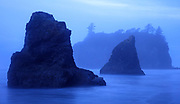 Blue light at Ruby Beach, Olympic National Park