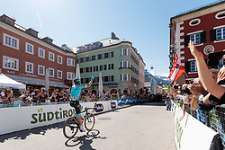 19.04.2018, Lienz, AUT, Tour of the Alps, Österreich, 4. Etappe, von Klausen nach Lienz (134,3 km), im Bild Luis Leon Sanchez (Etappensieger) // Luis Leon Sanchez (stage winner) during 4th stage from Klausen to Lienz of 2018 Tour of the Alps in Lienz, Austria on 2018/04/19. Lienz, Austria on 2018/04/19. EXPA Pictures © 2018, PhotoCredit: EXPA/ Johann Groder