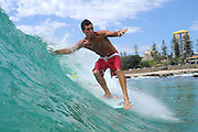 March 23, 2010: Dane Pioli surfs at Snapper Rocks on the Gold Coast. Photo by Matt Roberts