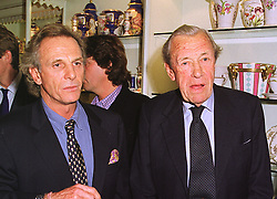 MR MARK SHAND and his father MAJOR BRUCE SHAND father of Camilla Parker Bowles, at a party in London on 13th October 1998.MKT 139