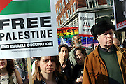 People marching during an anti-war demonstration held in central London, UK, on Saturday, March 19, 2005. **ITALY OUT**