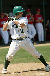 21 April 2007: Josh Bidzinski. Carthage College loses the first game of a double header by a score of 5-2 against the Illinois Wesleyan Titans.