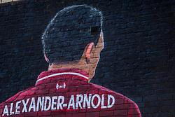 LIVERPOOL, ENGLAND - Monday, June 1, 2020: A mural of Liverpool FC player Trent Alexander-Arnold painted on the side of a terraced house in Sybil Road near Anfield. The mural was commissioned by The Anfield Wrap. (Pic by David Rawcliffe/Propaganda)