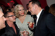 JACQUES AZAGURY; IMMODESTY BLAIZE; JULIAN VOGEL, Tunnel of Love. Funfair party The Mending Broken Hearts appeal In aid of the British Heart Foundation. Victoria House, Bloomsbury. London. 17 May 2011. <br /> <br />  , -DO NOT ARCHIVE-© Copyright Photograph by Dafydd Jones. 248 Clapham Rd. London SW9 0PZ. Tel 0207 820 0771. www.dafjones.com.