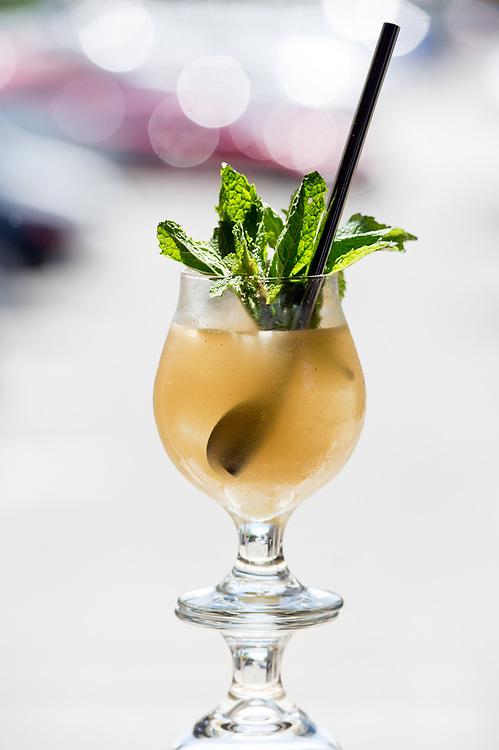 Photo by Mara Lavitt<br /> Westport, CT<br /> May 24, 2017<br /> Jesup Hall restaurant. Mai Tai cocktail.