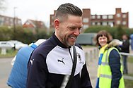 AFC Wimbledon goalkeeping coach Ashley Bayes arriving during the EFL Sky Bet League 1 match between AFC Wimbledon and Oxford United at the Cherry Red Records Stadium, Kingston, England on 10 March 2018. Picture by Matthew Redman.