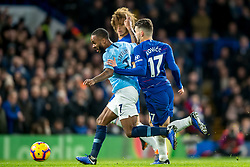 December 8, 2018 - London, Greater London, England - Raheem Sterling of Manchester City runs past Mateo Kovacic of Chelsea and David Luiz of Chelsea during the Premier League match between Chelsea and Manchester City at Stamford Bridge, London, England on 8 December 2018. (Credit Image: © AFP7 via ZUMA Wire)
