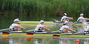 Lucerne, SWITZERLAND,  Gold Medalist, GER W4X Bow, Sophie DUNSING, Peggy WALESKA, Tina MANKER and Stephanie SCHILLER.  Third round of the  2009 FISA World Cup,  Rotsee Regatta Course, Sunday  12/07/2009 [Mandatory Credit Peter Spurrier/ Intersport Images]