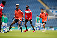 Madger Gomes of Doncaster Rovers warming up during the EFL Cup match between Blackburn Rovers and Doncaster Rovers at Ewood Park, Blackburn, England on 29 August 2020.