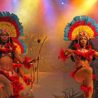 South America, Brazil, Rio. Dancers of the Plataforma cultural show in Rio de Janeiro.