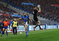November 24, 2018 - Rome, Italy - Italy v New Zealand All Blacks - Rugby Cattolica Test Match..Italys Jayden Hayward and New Zealands Jordie Barrett at Olimpico Stadium in Rome, Italy on November 24, 2018. (Credit Image: © Matteo Ciambelli/NurPhoto via ZUMA Press)