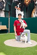 PHOENIX, ARIZONA - APRIL 09: Shelby Miller and his dogs Nixon and Teddy for the D-backs Insider cover. (Photo by Sarah Sachs/Arizona Diamondbacks)