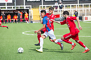 Kalsang Topgyal on the attack for Tibet. London Turkish All-Stars Vs Tibet during the Conifa Paddy Power World Football Cup Placement Match A on the 5th June 2018 at Bromley in the United Kingdom. London Turkish All-Stars 4 Tibet 0. Tibet were due to play Ellan Vannin, although Ellan Vannin were withdrawn by CONIFA. Ellan Vannin's withdrawal comes following a vote of the tournament management committee on Monday 4 June, which rejected a challenge by Ellan Vannin to the eligibility of a Barawa player. The CONIFA World Football Cup is an international football tournament organised by CONIFA, an umbrella association for states, minorities, stateless peoples and regions unaffiliated with FIFA.