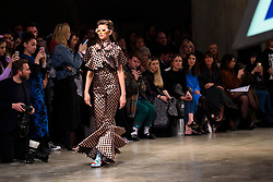 Models on the catwalk at the House of Holland Autumn/Winter 2017 London Fashion Week show at Tate Modern, London.PRESS ASSOCIATION Photo. Picture date: Saturday February 18th, 2017. Photo credit should read: Matt Crossick/PA Wire.