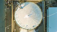 Aerial view above of industrial site at Tarragona, Spain