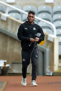 Christian Atsu (#30) of Newcastle United arrives ahead of the Premier League match between Newcastle United and Crystal Palace at St. James's Park, Newcastle, England on 21 December 2019.