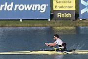 Sarasota. Florida USA.Final B PR1 Men's Single Sculls. GER PRI M1X. SCHMIDT, Johannes. Sunday Final's Day at the  2017 World Rowing Championships, Nathan Benderson Park<br /> <br /> Sunday  01.10.17   <br /> <br /> [Mandatory Credit. Peter SPURRIER/Intersport Images].<br /> <br /> <br /> NIKON CORPORATION -  NIKON D500  lens  VR 500mm f/4G IF-ED mm. 200 ISO 1/1250/sec. f 6.3