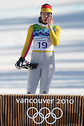 Olympic Winter Games Vancouver 2010 - Olympische Winter Spiele Vancouver 2010, Alpine Skiing (Ladies' Super Combined), Maria RIESCH (GER) ***Photo by Malte Christians / HOCH ZWEI / SPORTIDA.com.