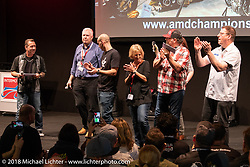 AMD World Championship of Custom Bike Building awards ceremony in the Intermot Customized hall during the Intermot International Motorcycle Fair. Cologne, Germany. Sunday October 7, 2018. Photography ©2018 Michael Lichter.