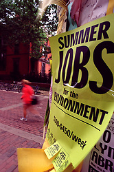 Poster to students summer jobs for the environment Americana