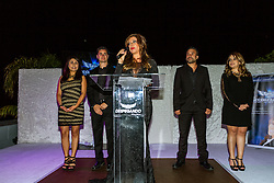 LOS ANGELES, CA - JUN 3: Attend Despegando Show VIP Launch party at Don Chente's Restaurant in downtown Los Angeles. The reality show is presented by Adriana Gallardo, founder and CEO of Adriana's Insurance. The show will coach chosen participants how to be successful entrepreneurs. 2015, June 3. Byline, credit, TV usage, web usage or linkback must read SILVEXPHOTO.COM. Failure to byline correctly will incur double the agreed fee. Tel: +1 714 504 6870.