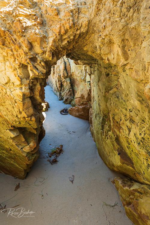 Natural arch on Skunk Point Beach, Santa Rosa Island, Channel Islands National Park, California USA