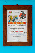 Government recognition for the manager of La Panchita, the factory that makes Guyaba bars. (Florida, Camagüay Province, Cuba).