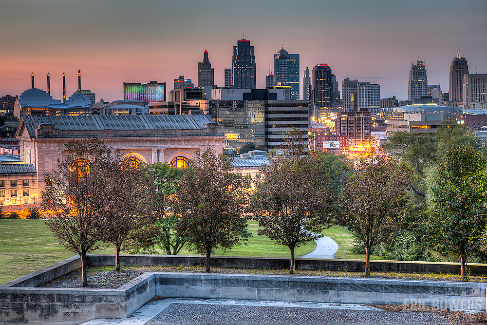 Downtown Kansas City MO from Liberty Memorial in August 2011.