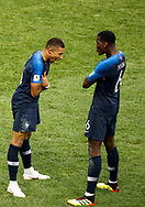 Kylian Mbappe of France celebrates after his goal with Paul Pogba during the 2018 FIFA World Cup Russia, final football match between France and Croatia on July 15, 2018 at Luzhniki Stadium in Moscow, Russia - Photo Tarso Sarraf / FramePhoto / ProSportsImages / DPPI