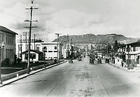 1927 Looking north up Vine St. from Barton Ave.