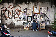 Street artist.<br /> Various scenes of the city of Jakarta in Indonesia.