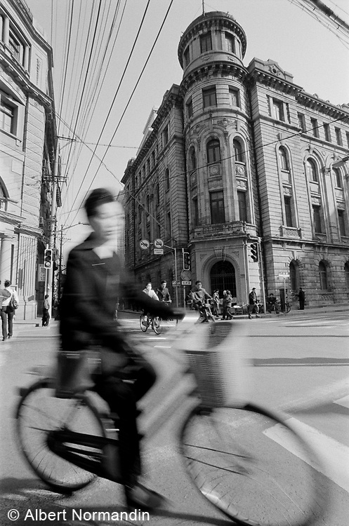 Bicycle in the old city of Shanghai