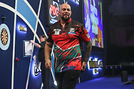 Devon Peterson walks off the stage at the end of his third round match during the World Darts Championships 2018 at Alexandra Palace, London, United Kingdom on 27 December 2018.