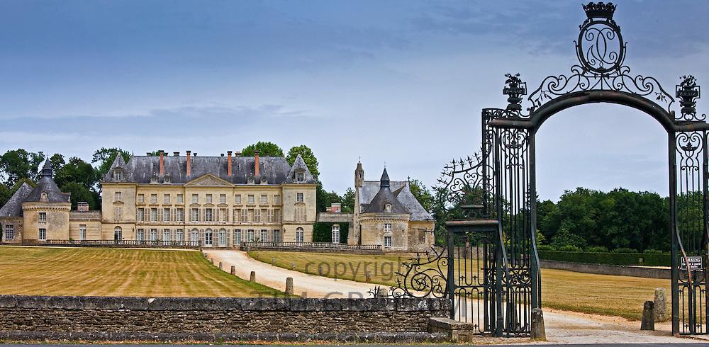 Chateau de Montgeoffroy, 18th Century manor house, by architect Jean-Benoit-Vincent Barre, near Angers, France