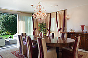 comfortable dining room of an house, classic design furniture