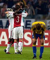 Fotball<br /> Nederland<br /> Foto: ProShots/Digitalsport<br /> NORWAY ONLY<br /> <br /> Brøndby IF - Ajax , 10-08-2005 , UEFA Champions League Qualification , Ajax viert de overwinning
