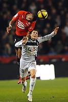 FOOTBALL - FRENCH CHAMPIONSHIP 2010/2011 - L1 - STADE RENNAIS v AC ARLES - 15/01/2011 - PHOTO PASCAL ALLEE / DPPI - YANN MVILA (RENNES) / CAMEL MERIEM (ARLES)