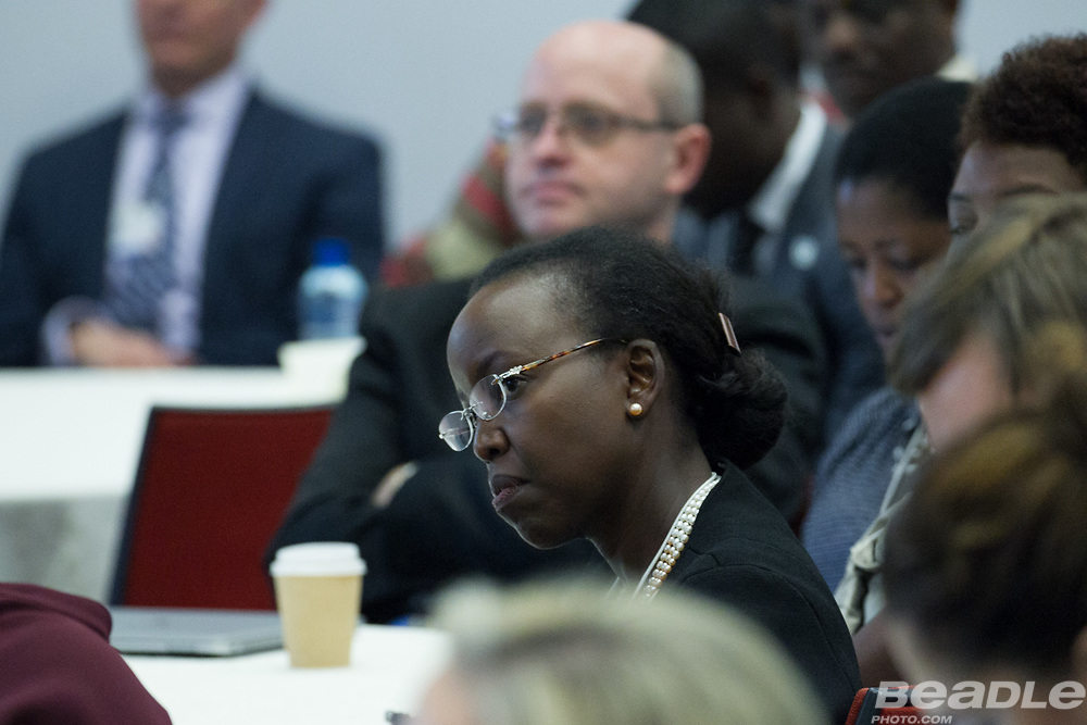 Participants listen at the World Economic Forum on Africa 2017 in Durban, South Africa. Copyright by World Economic Forum / Greg Beadle