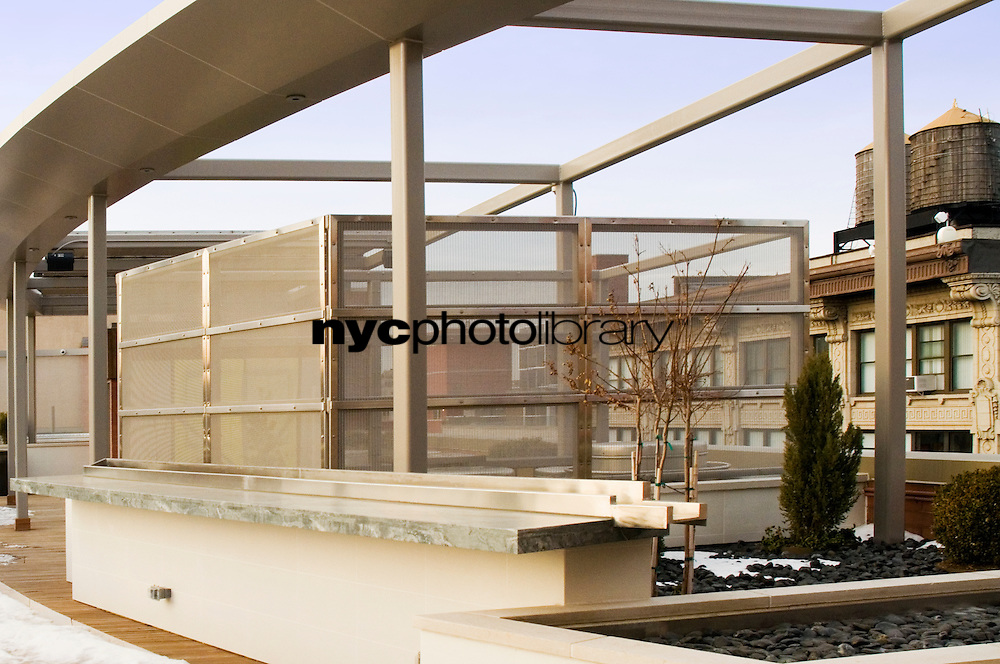 Roof Deck at 120 West 21st Street