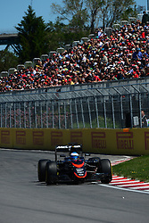 06.06.2015, Circuit Gilles Villeneuve, Montreal, CAN, FIA, Formel 1, Grand Prix von Kanada, Qualifying, im Bild Fernando Alonso (ESP) McLaren MP4-30 // during Qualifyings of the Canadian Formula One Grand Prix at the Circuit Gilles Villeneuve in Montreal, Canada on 2015/06/06. EXPA Pictures © 2015, PhotoCredit: EXPA/ Sutton Images/ Patrick Vinet<br /> <br /> *****ATTENTION - for AUT, SLO, CRO, SRB, BIH, MAZ only*****