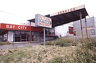 BaY CITY DODGE a closed dealer ship in Juy 1982 <br /><br />Photograph ny Dennis Brack. bb78