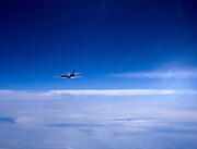 Airplane flying at 37,000 feet altitude