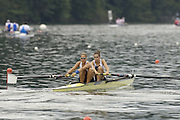 2006 FISA World Cup, Lucerne, SWITZERLAND, 08.07.2006  GBR W2- Bow, Baz MOFFAT and Jessica-Jane EDDIE, Photo  Peter Spurrier/Intersport Images email images@intersport-images.com....[Mandatory Credit Peter Spurrier/Intersport Images... Rowing Course, Lake Rottsee, Lucerne, SWITZERLAND.