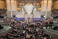12 FEB 2017, BERLIN/GERMANY:<br /> Uebersicht waehrend der Abstimmung, 16. Bundesversammlung zur Wahl des Bundespraesidenten, Reichstagsgebaeude, Deutscher Bundestag<br /> IMAGE: 20170212-02-083<br /> KEYWORDS: Übersicht