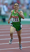 Amina Ait Hammou of Morroco wins second-round heat of the 800 meters in the IAAF World Championships in Athletics at Stade de France on Sunday, Aug, 24, 2003.
