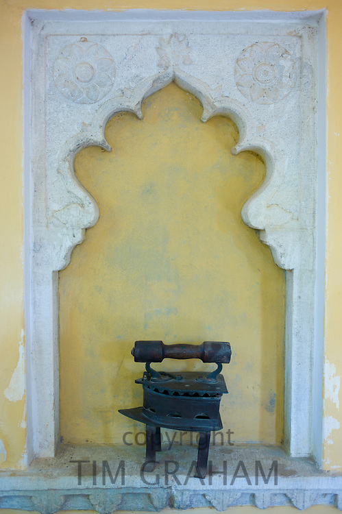 Detail at Rawla Narlai, 17th Century merchant's house now a luxury heritage hotel in Narlai, Rajasthan, Northern India
